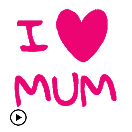 I Love Mom Animated Sticker