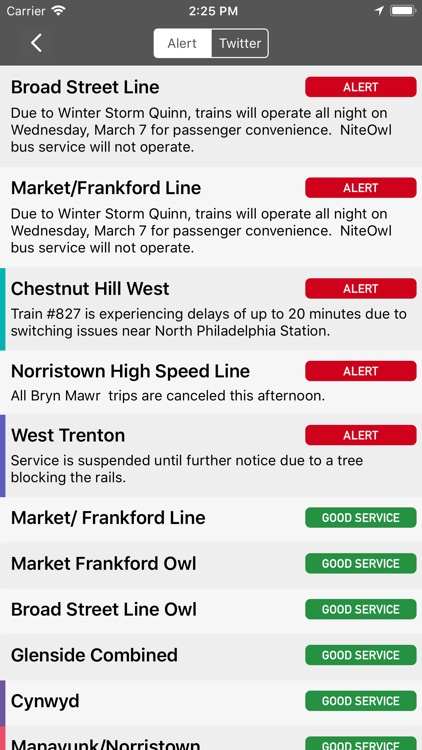 onTime : SEPTA Rail, Bus screenshot-4