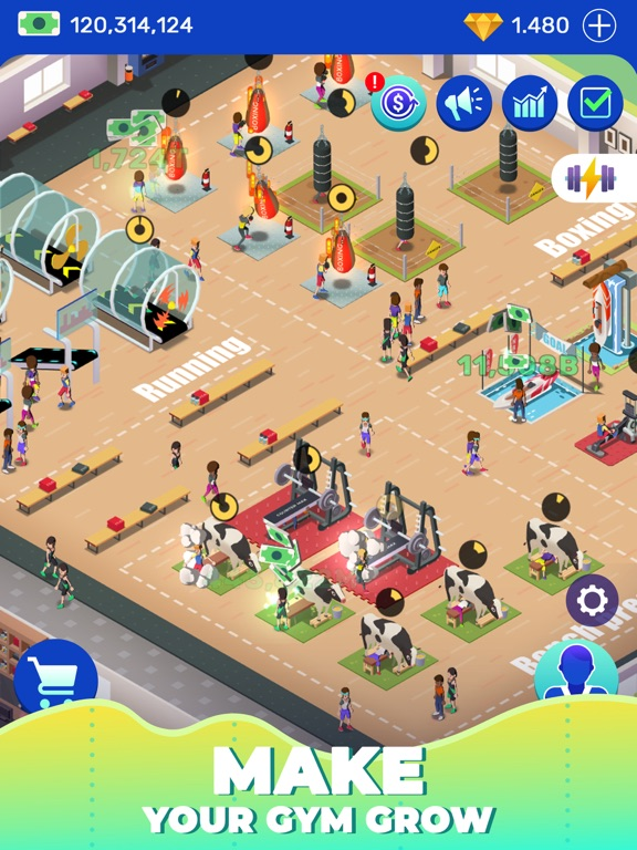 Idle Fitness Gym Tycoon - Game screenshot 9