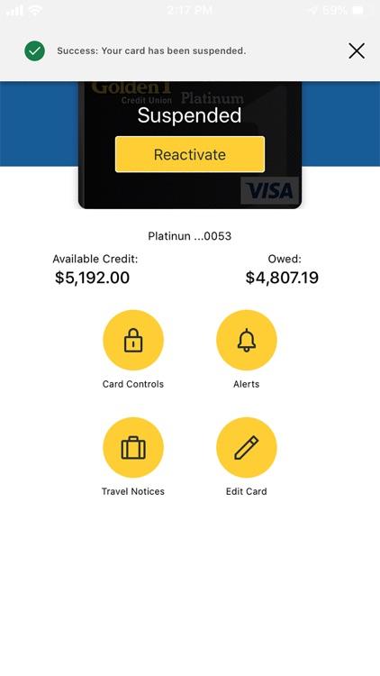 Golden 1 Card Controls screenshot-4