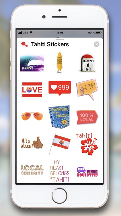 Tahiti Stickers for iMessage screenshot-5