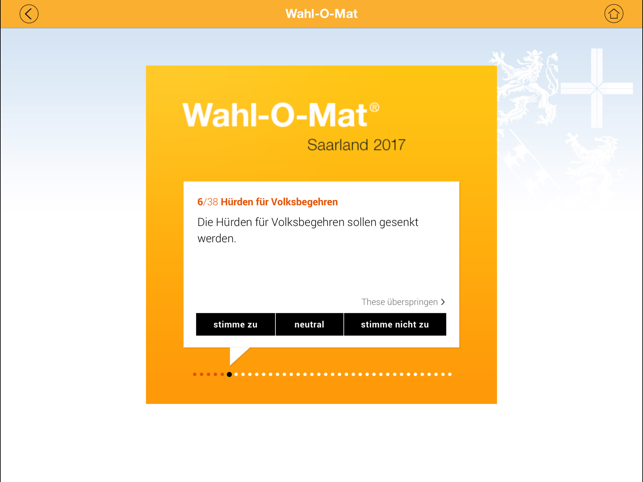 ‎Wahl-O-Mat Screenshot