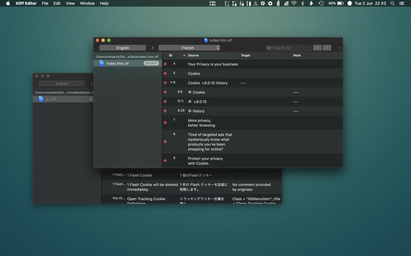 Xliff Editor Screenshots