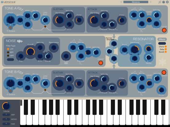 Screenshot #4 pour Mersenne Synthesizer