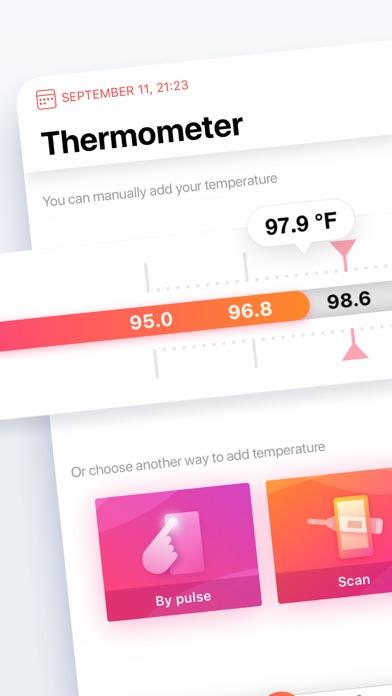 体温計:健康診断と体温記録と病気の症状チェックのおすすめ画像1
