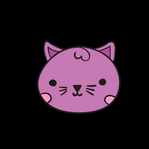 Purple Cat Warm Sticker
