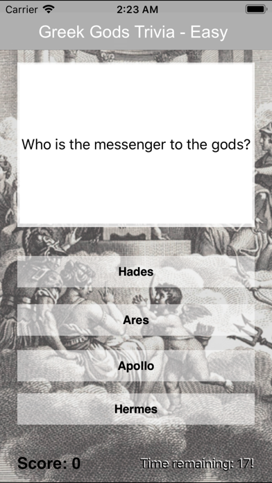 Greek God Trivia screenshot two