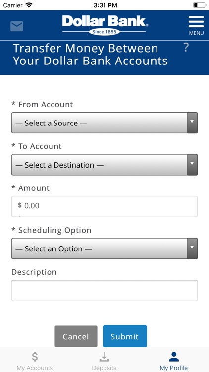 Dollar Bank Mobile App screenshot-3