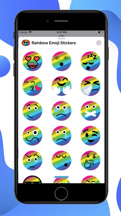 Rainbow Emoji Stickers screenshot 1