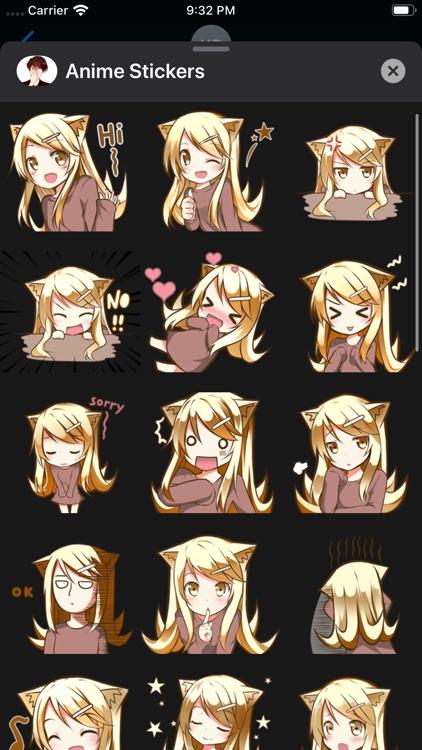 iStickers: Anime Stickers screenshot-4