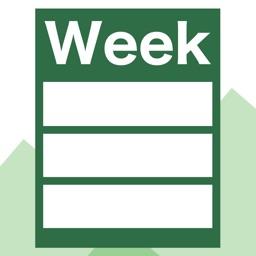 WeekTable2 - Weekly timetable