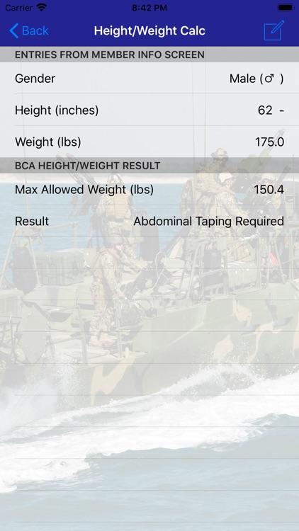 Navy PFA Calc