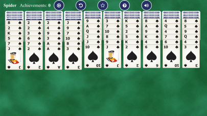 Spider Solitaires Card screenshot 2