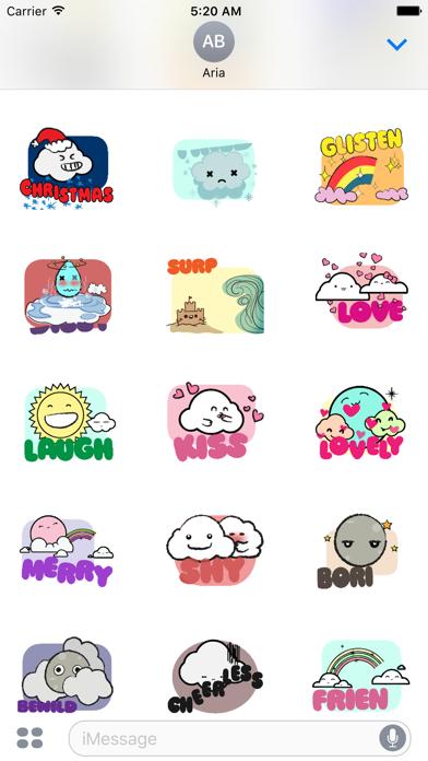Animated Cute Weather Emoji screenshot 3