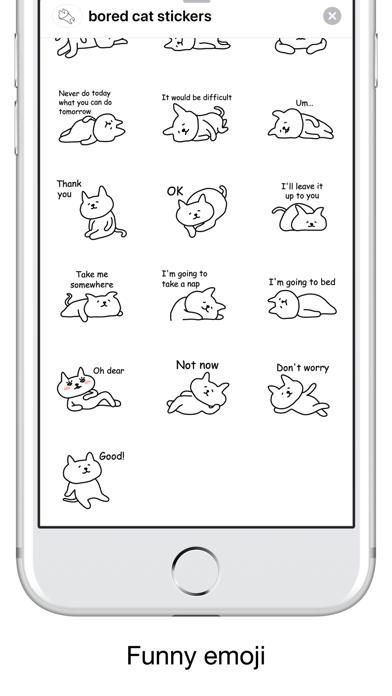 Bored cat - Emoji and Stickers screenshot 3