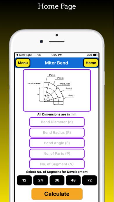 Miter Bend Pro screenshot 1