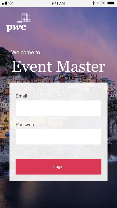 PwC Event Master Screenshot