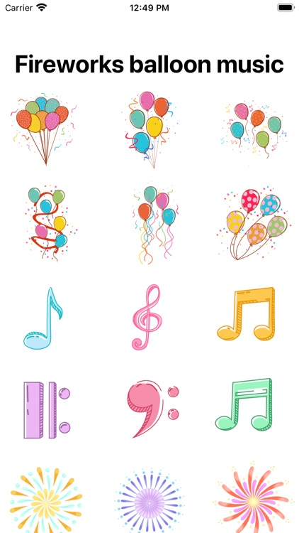 Fireworks balloon and music