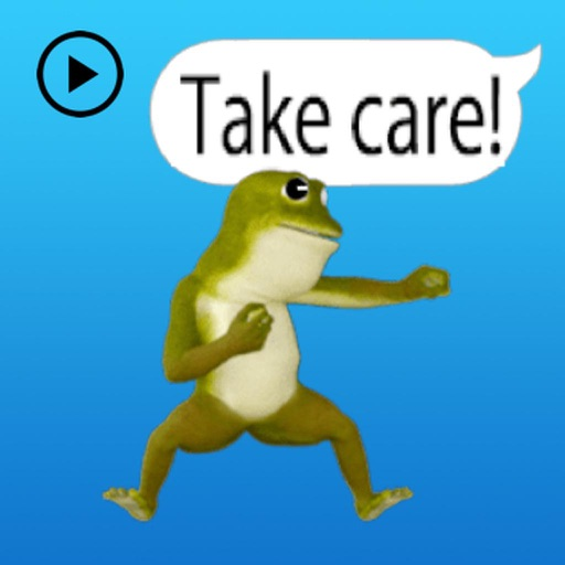 Animated Dancing Frog Stickers