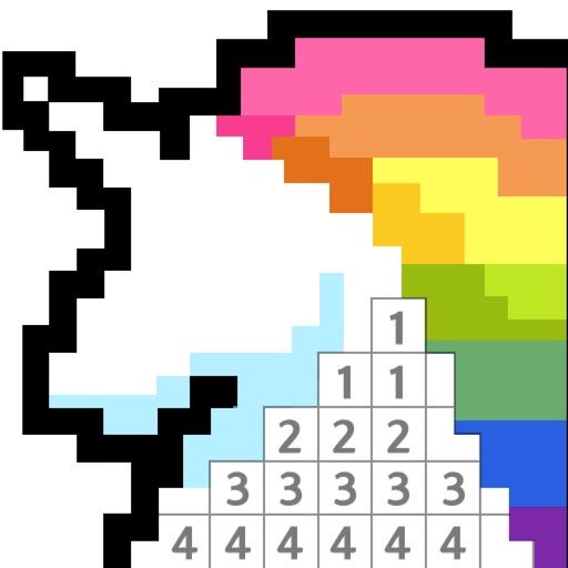 数字填色:二次元像素绘本游戏