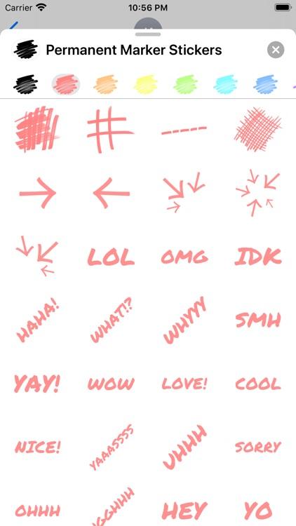 Permanent Marker Stickers screenshot-3