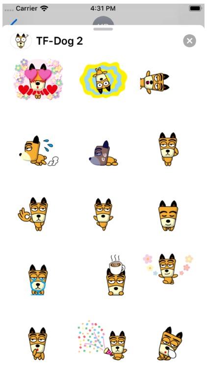 TF-Dog 2 Stickers