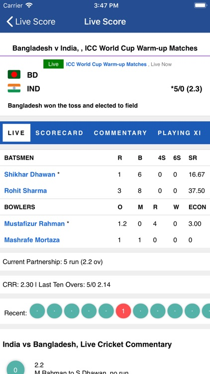 CrickLive - Live Cricket Score screenshot-3