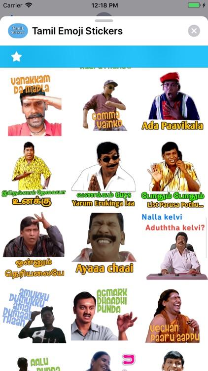Tamil Emoji Stickers screenshot-9