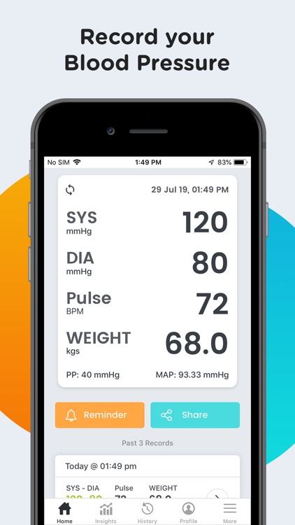 SmartBP - Smart Blood Pressure screenshot-1