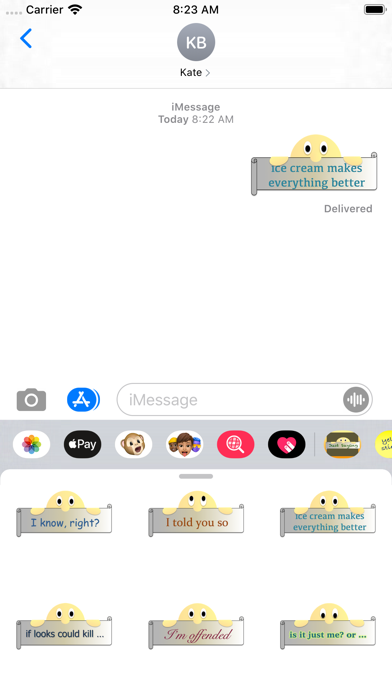 Just Saying Stickers screenshot 1