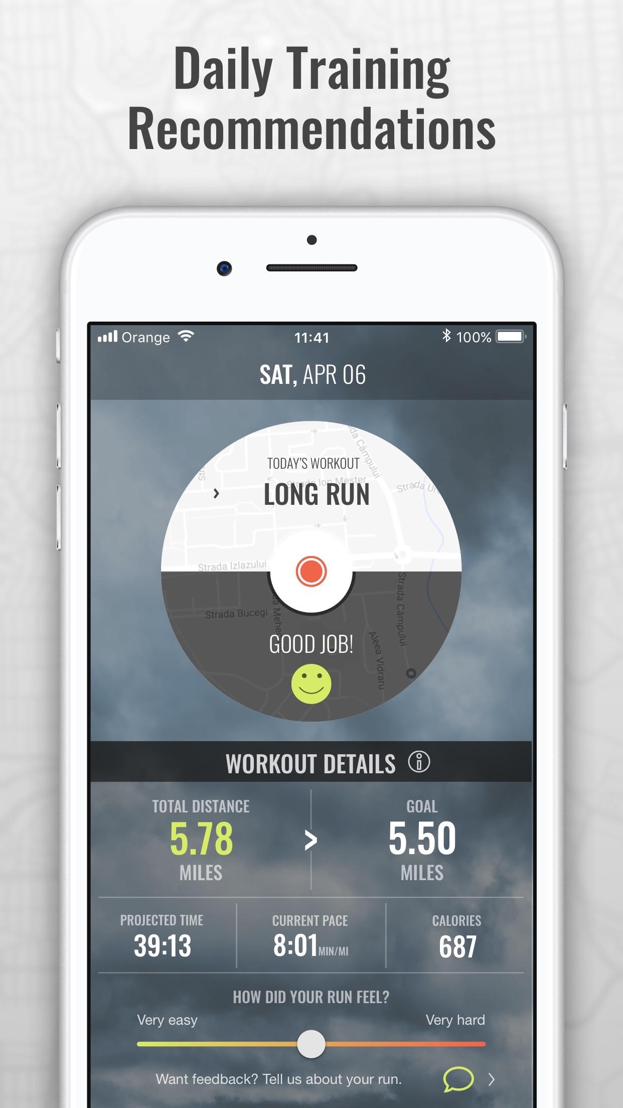 SportMe Marathon & Run Trainer Screenshot