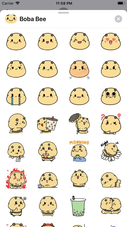 Boba Bee Stickers: Aminals