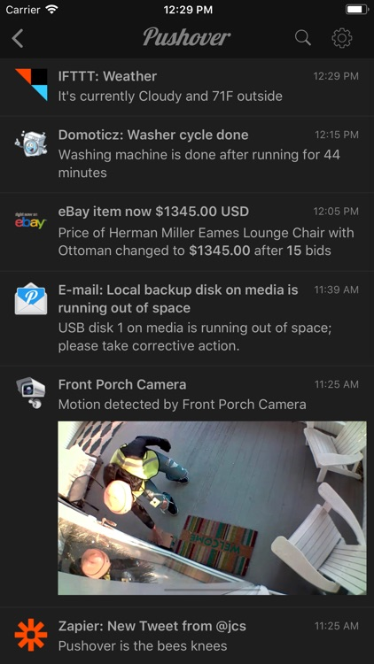 Pushover Notifications