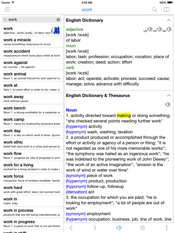 Offline Dictionary & Translation of English, Spanish, French, Italian, Portuguese, German and Other Languages screenshot
