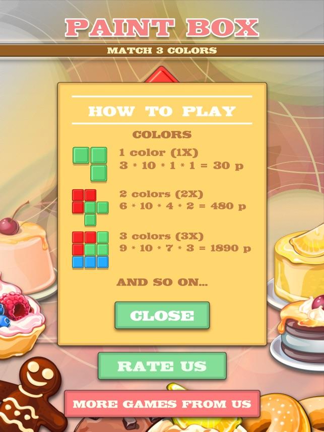Paint Box - Match 3 Colors Screenshot