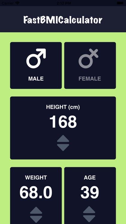 Fast BMI Calculator screenshot-4