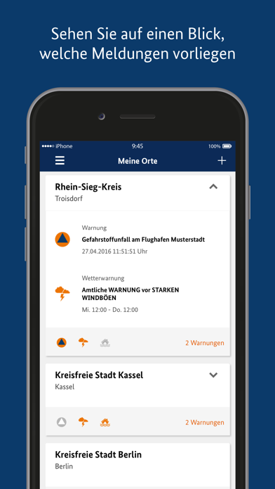 Screenshot for NINA in Germany App Store