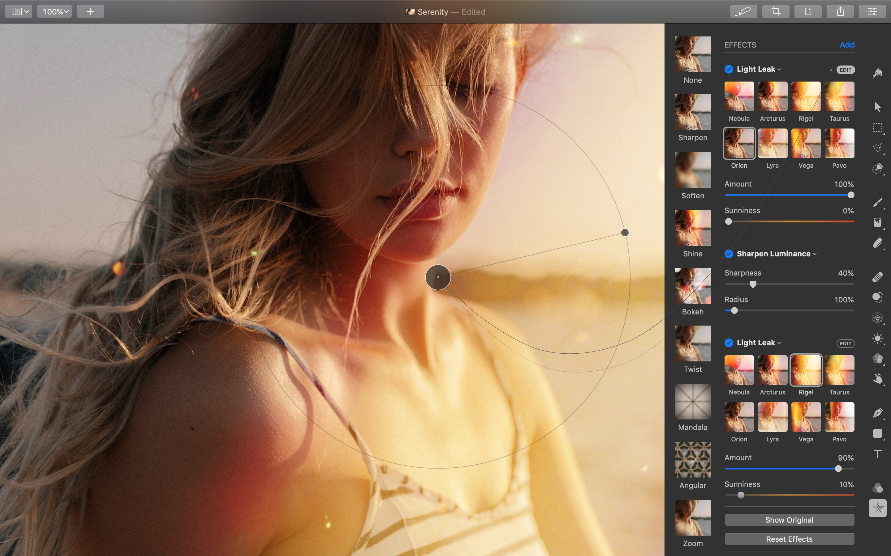Screenshot do app Pixelmator Pro