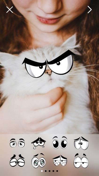 Crazy Eyes Fun Photo Stickers screenshot-0