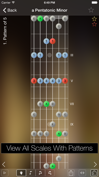 Star Scales Lite For Guitar