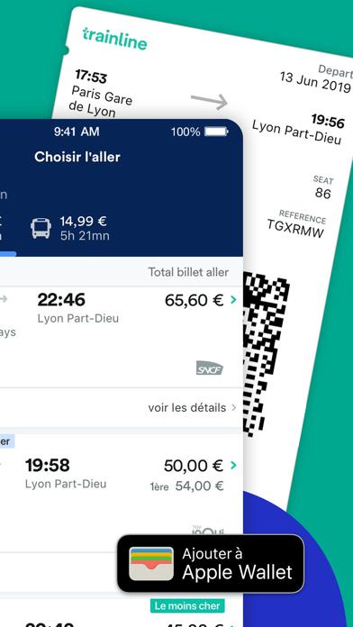 Screenshot #2 pour Trainline : Billets & horaires