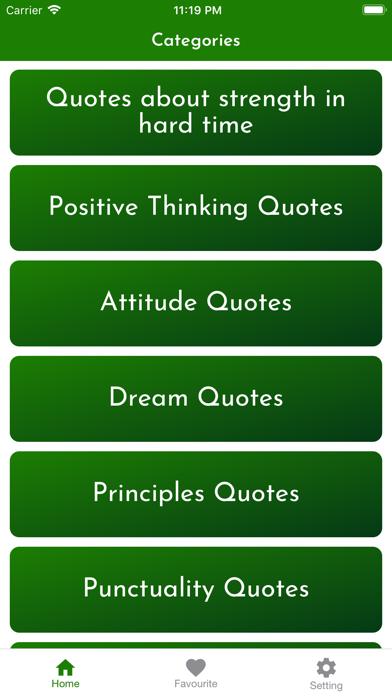 My motivational thoughts Screenshot
