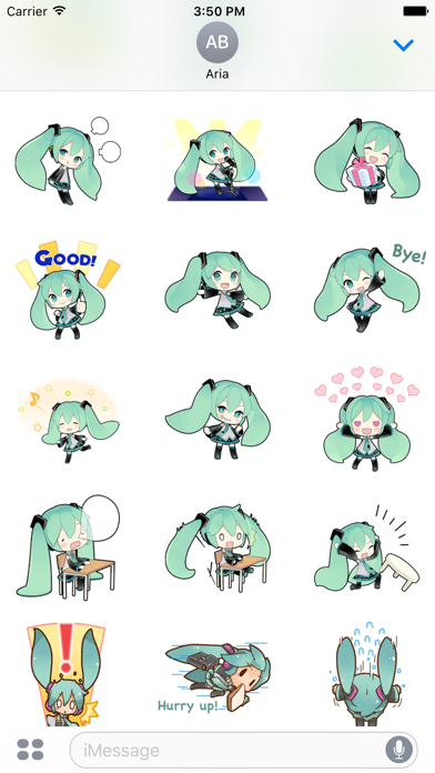 Happy Miku And Gang HD Sticker screenshot 3