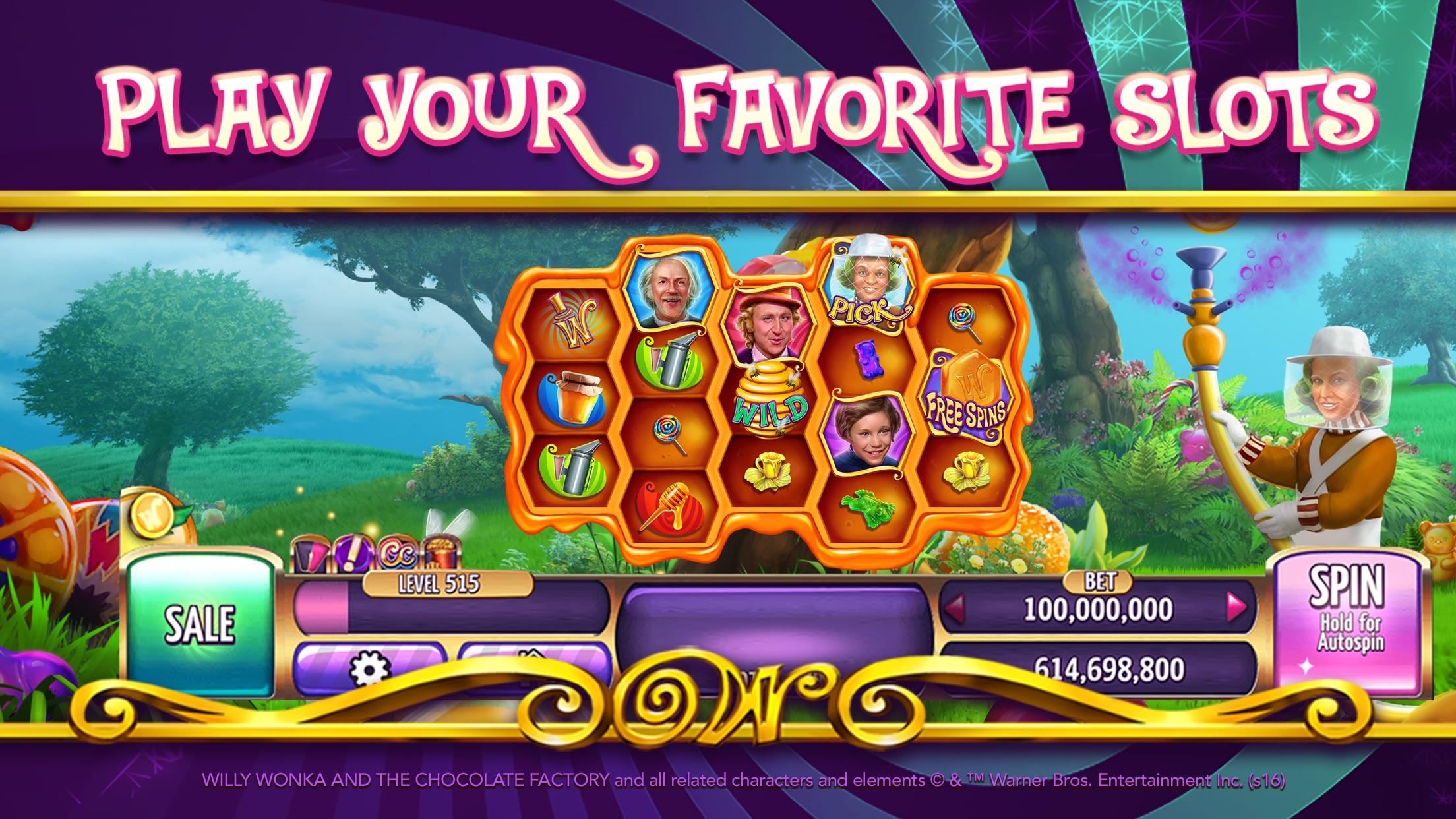 《巧克力冒險工廠拉霸》:拉斯維加斯賭場拉霸機 Screenshot