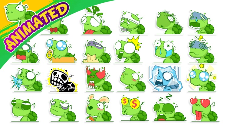 Funny Turtle Animated Stickers