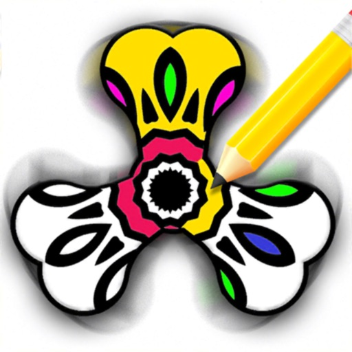 Best Fidget Spinner Coloring Page | Cool fidget spinners, Super ... | 512x512