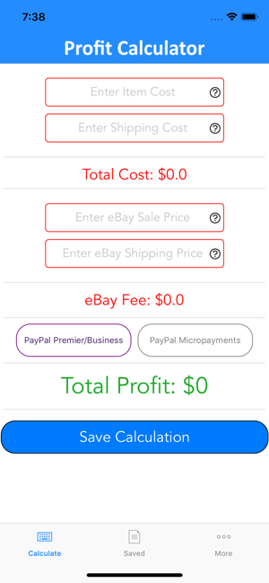 Profit Calculator For Ebay On The App Store