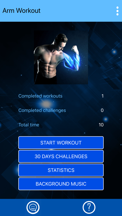 Arm Workout at Home with music screenshot 4