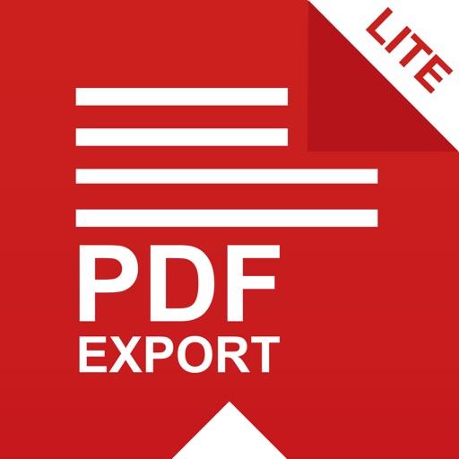 PDF Export Lite: PDF Converter iOS App