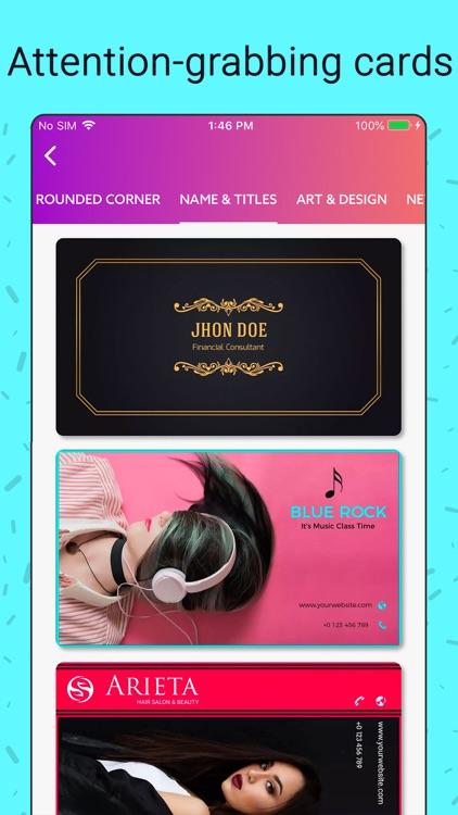 Business Card Maker, Creator screenshot-4
